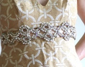 RESERVED - Vintage 60s gold cocktail dress with rhinestones beads and faux pearls