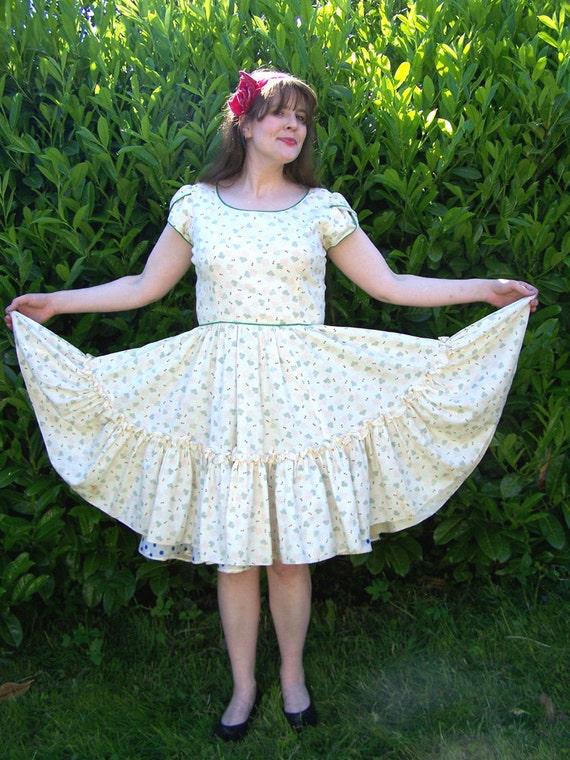 Vintage 50s full circle summer dance dress