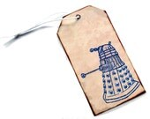Doctor Who Inspired Bookmark, Dalek-Inspired Gold Tag or Bookmark