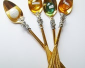 Herb Garden Markers Plant Stakes Tall Recycled Ice Tea Spoons Gold