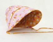 Custom reversible baby or child bonnet, from fabrics of your choice--World Vision fundraiser