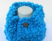 Handmade  crochet Neck Warmer Cowl Shoulder warmer in  Turquoise Blue
