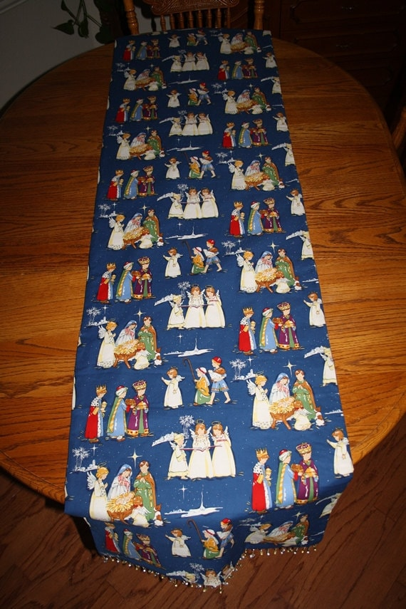 Table christmas runner Christmas table blue  Blue Runner