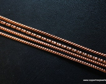Patterned Wire 5' Sampler Pack - Pure Copper Wire by Copper Tree Jewellery