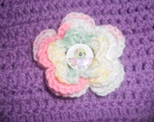 Crochet Flower Hair clip set day of the dead