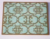 Elegant Stationery - Teal and Tan