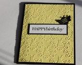 Birthday Card- Bee Yellow and Black