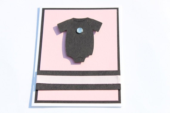 Baby Girl Card- Pink and Black