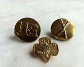 Vintage Military/Girl Scout  Pins
