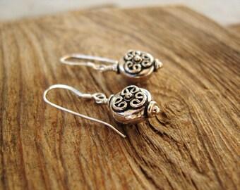 Bali Sterling Silver Earrings. Silver Balinese Earrings. Bali Earrings. Bali Jewelry. Sterling Silver Jewelry. Balinese Jewelry.Gift for Her