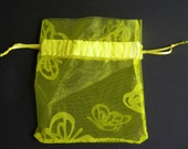 MIni Yellow/Yellow Butterfly Drawstring with felt