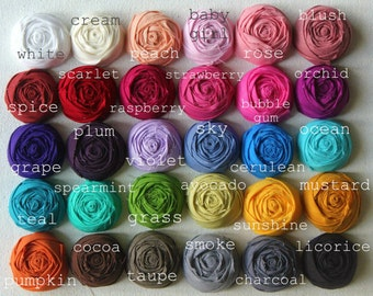 Colors for BOUQUETS, BOUTS, CORSAGES and Fabric Flowers