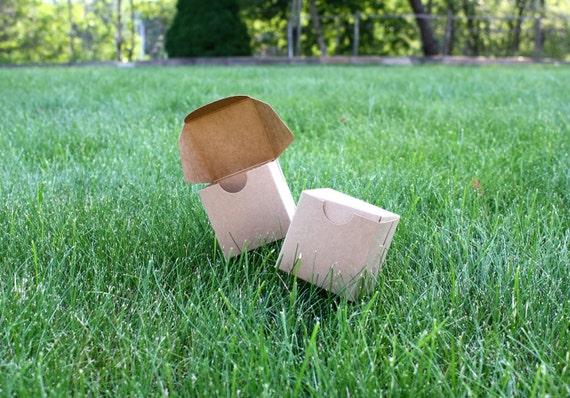 """15 Pack Brown Kraft Paper Lock & Tab Box 2.5""""x2.5""""x2.5"""" Inch Size"""