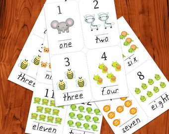 Number Flash Cards Printable PDF
