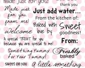 Yummy-licious - My Pink Stamper Clear Acrylic Stamps Set - MPS - FREE Shipping