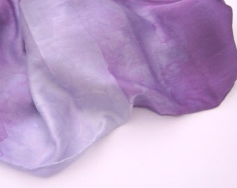 Purple Ombre Silk Scarf in Shades of Violet