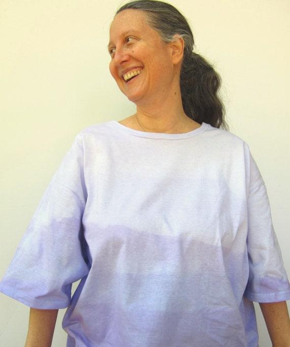 Ombre Purple Tshirt in Organic Cotton, Size 3X