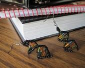 Beaded DNA Double Helix Earrings