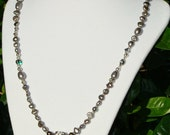 Dove Gray Baroque Pearl Necklace Set