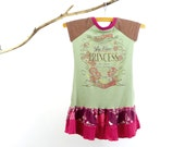 Be Mine Princess Girls Dress - Size 4T - Handmade & Upcycled