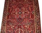 Antique Persian Traditional Sarouk Rug Circa 1920