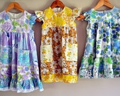 MADE TO ORDER Girls Holly Hobby style dress floral patchwork