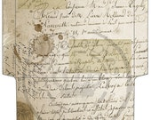 INSTANT Download French vintage envelope - vintage - digital collage sheet - set of 1 - Printable Download jpg- No.C43
