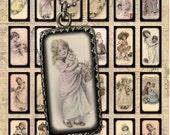 Adorable Vintage Children - Digital Collage Sheet - 1x2 inch Dominoes Size  - Printable Download (No.C80)