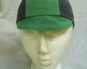 Green and Gray Cycling Cap