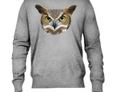 Owl Head Printed Jumper-Available in sizes S-XL