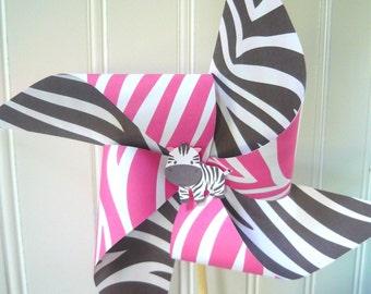 Zebra pinwheels, INSTANT DOWNLOAD, zebra birthday decorations, zebra prints, zebra printable pinwheels, printable pinwheels, hot pink zebra
