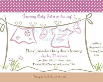 Printable Baby Shower Invite for girl arrival