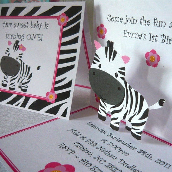 zebra invitations zebra birthday invites zebra birthday, Birthday invitations
