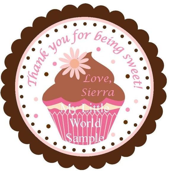 Cupcake party tags, cupcake birthday theme, cupcake, party favor tags, party tags, gift tags, party favor tag, PRINTABLE FILE, cupcake tags