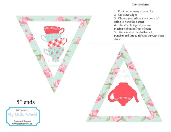 Shabby Chic Banner for birthdays or baby showers - Print Your Own