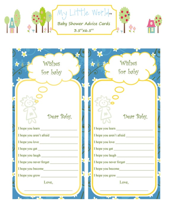 Baby Advice Cards - Honey Suckle Garden