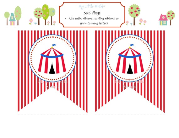 circus banner coloring pages - photo#4
