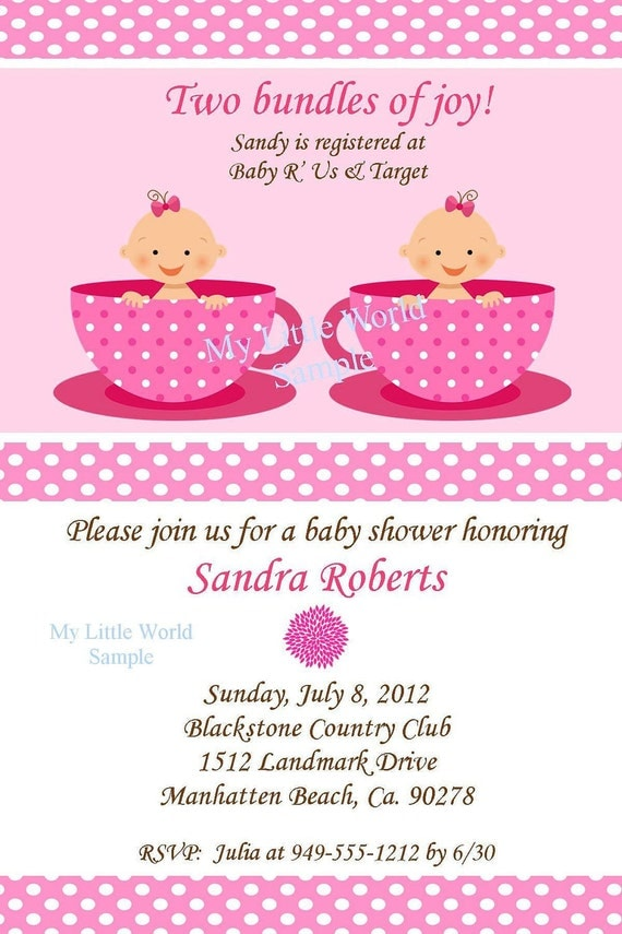 twin invitation twin birthday invitations twin baby shower, Baby shower invitation