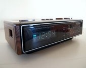 1983 ALARM CLOCK Radio // Vintage PANASONIC Clock Radio // Japan circa 1980s // Faux Bois Electronics // Fake Wood Early Clock Radio