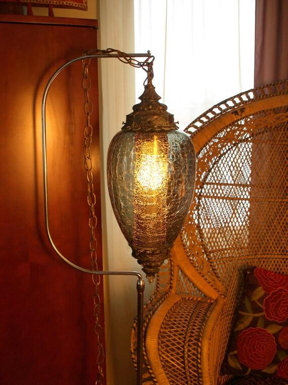 vintage swag lamp light mid century mood by acesfindsvintage. Black Bedroom Furniture Sets. Home Design Ideas
