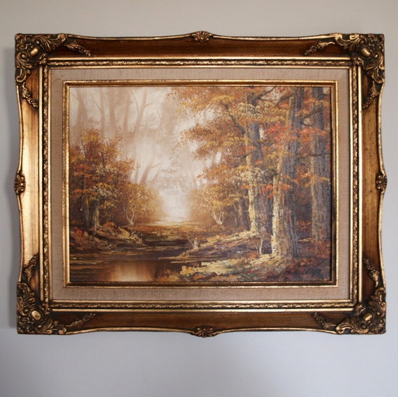 Original Antique Oil Painting Schiller Large By