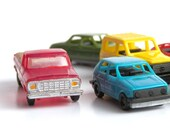 Colorful Collection of Eight Vintage Toy Cars