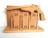 Vintage Clothespin Toy Gun Handmade Wood Toy Target Game