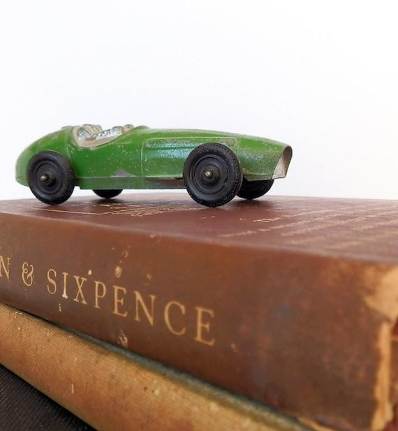 Vintage Tootsie Toy Car Ferrari Race Car By DairyFarmAntiques