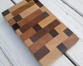 Butcher's Block with multi-colored endgrain - great for sushi, cheese, onions, and garlic