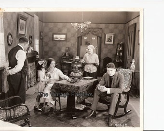 Very Rare Lobby Card Vintage Original Silent Film Photo With Actress Mary Carr in The Movie Over the Hill to the Poorhouse