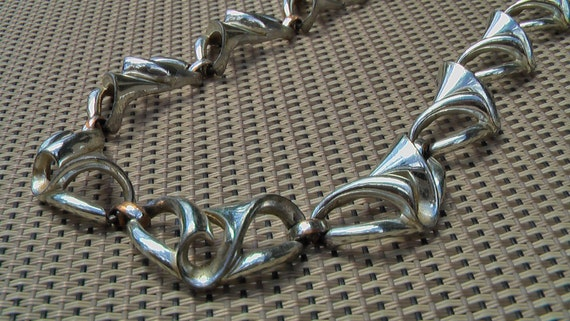 SWEET Vintage Silver Plated Copper Coro Abstract Necklace