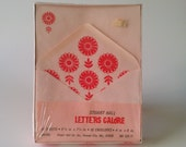 Vintage Stuart Hall Letters Galore Paper Stationery Groovy Pink Flowers
