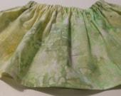 Baby Tutu  Skirt Fabric Green Tie Dye