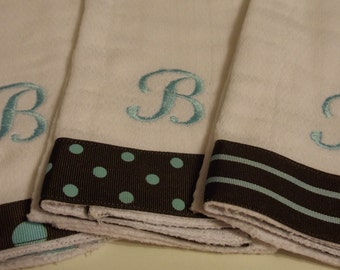Special Order Custom Made Baby Burp Cloth Car Tune Font